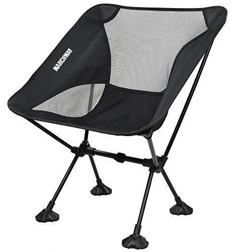 Marchway Ultralight Folding Camping Chair With Large Feet Portable Compact For Outdoor Camp Travel Beach Picnic Festival Hiking Lightweight Backpacking Folding Camping Chairs Camping Chairs Portable Camping Chair