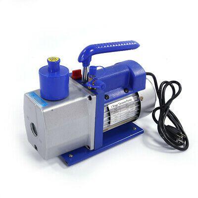 Ad Ebay Hot 5cfm Horsepower Vacuum Pump 1 3 Hp Hvac Ac Refrigerant 2 X Bottles Of Oils In 2020 Vacuum Pump Hvac Compressor Hvac Tools