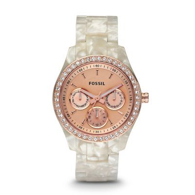 Fossil Watch, Women's Stella White Plastic Bracelet - Women's Watches - Jewelry & Watches - Macy's I❤️this!
