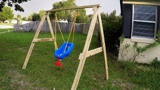 Diy Easy Cheap 2x4 Kids Swing Ideal For Ages 0 5 Swing Set Diy Diy Kids Swing Kids Swing
