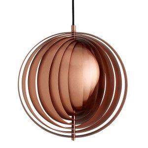Verner Panton Moon Kobber Pendellampe Lampe Design Taklampe