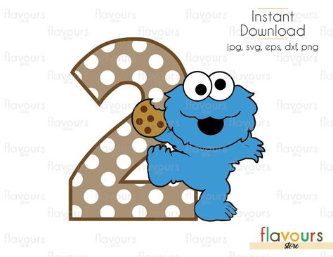 Two Baby Cookie Monster Sesame Street Cuttable Design Files Svg Monster Cookies Baby Cookie Monster Cookie Monster Party