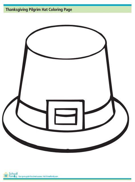 Thanksgiving Pilgrim Hat Coloring Page Pilgrim Hat Thanksgiving