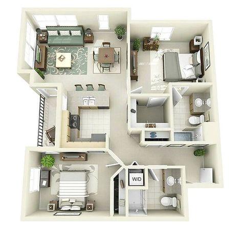 sketsa denah rumah kecil 2 kamar tidur | denahku | denah