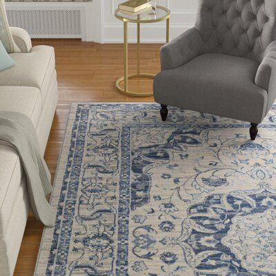 Charlton Home Swaney Blue Gray Area Rug Rug Size Rectangle 8 10 X 12 3 In 2020 Blue Living Room Decor Teal Living Room Decor Blue And Cream Living Room