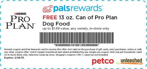Free Purina Pro Plan Canned Dog Food At Petco Go Print This Now Because It Won T Last Long Pro Plan Dog Food Purina Pro Plan Dogs Cat Food Coupons