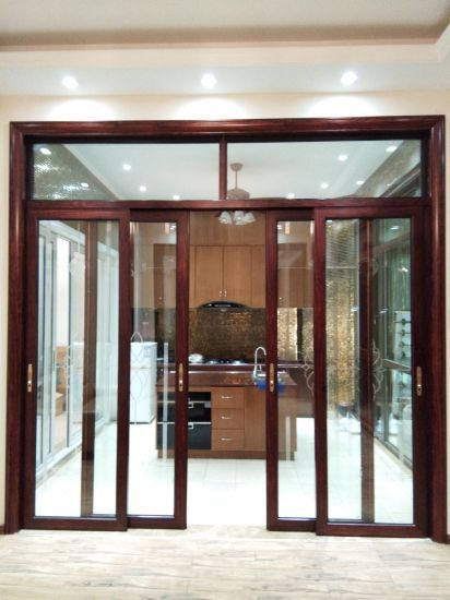 Woodwin Top Quality Double Tempered Glass Trackless Sliding Door For Kitchen Sliding Doors Sliding Glass Door House Design
