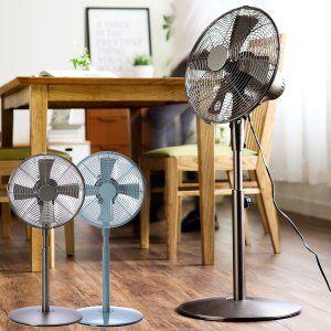 扇風機 おしゃれ レトロ レトロ扇風機 メタル メタルファン スチール スリム リビング アロマファン 首振り メタルリビングファン リビング ファン リビング アロマ 扇風機