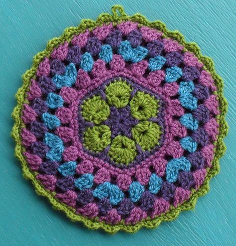 Ornamental Pot Holders Crochet Pinterest Uncinetto Presine