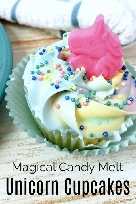 Magical DIY Candy Melt Unicorn Cupcakes