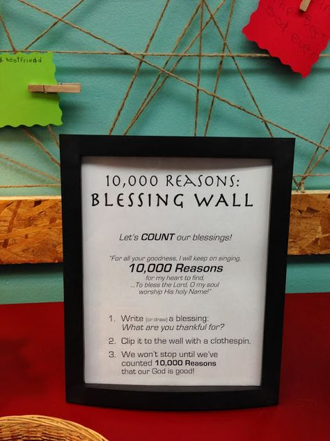 This Wall of Blessing is a wonderful way to decorate your room! It will show your kids how much God blesses them as you all fill it up!
