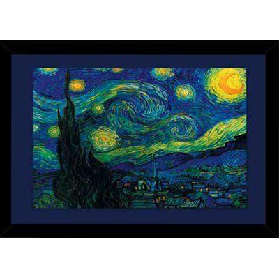 Van Gogh Artwork Starry Night Landscape Silk Poster Prints Wall Decoration