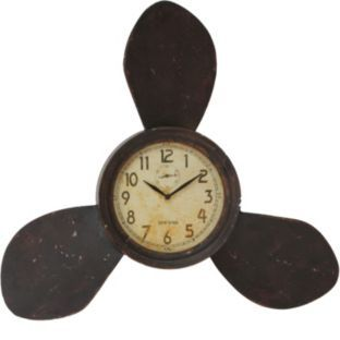 Buy Shabby Chic Propeller Wall Clock At Argos Co Uk Your Online Shop For Home Furnishings Clocks With Images Propeller Wall