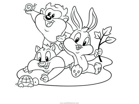 Risultati immagini per baby looney tunes da colorare