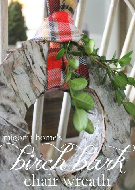 Birch Bark Chair Wreath by Migonis Home
