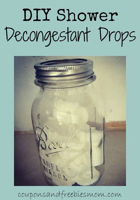 """DIY Shower Decongestant """"Drops""""! With cold and flu season on the way, you'll want to have some of easy-to-make all natural decongestant drops to help you breathe better and ease sinus congestion! Great homemade gift for anyone under the weather! Check out how simple these are to make!"""
