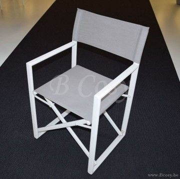 Gescova Javea Director Chair Alu Wit Aluminium Opvouwbare