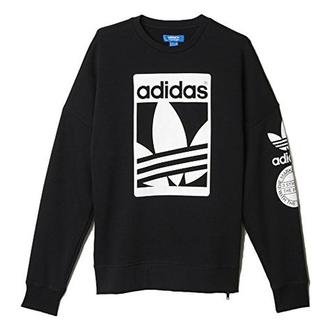9a8a5eadd0e34 Adidas Men s Originals Street Graphic Crew Sweatshirt Black ab8028 This men s  sweatshirt has true adidas Originals style. With a front graphic inspired  by a ...