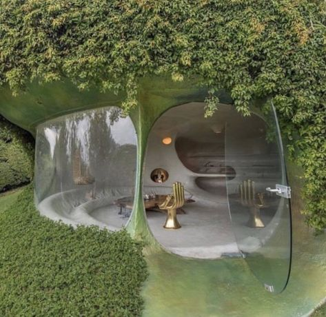 🤯 bubble house designed by Maison Earthship, Earthship Home, Earthship Design, Organic Architecture, Amazing Architecture, Interior Architecture, Futuristic Architecture, Residential Architecture, Contemporary Architecture