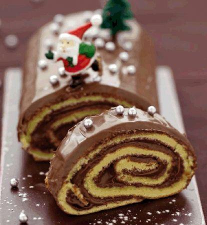 Recette bûche de noël au nutella® par La : Une recette proposée par nutella®