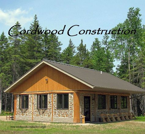 The Cordwood Education Center in Merrill, Wisconsin, USA.  A cordwood classroom for the students.  www.cordwoodconstruction.org