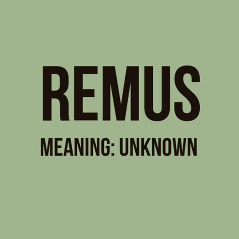 Remus - Baby Names Inspired By 'Harry Potter' - Photos