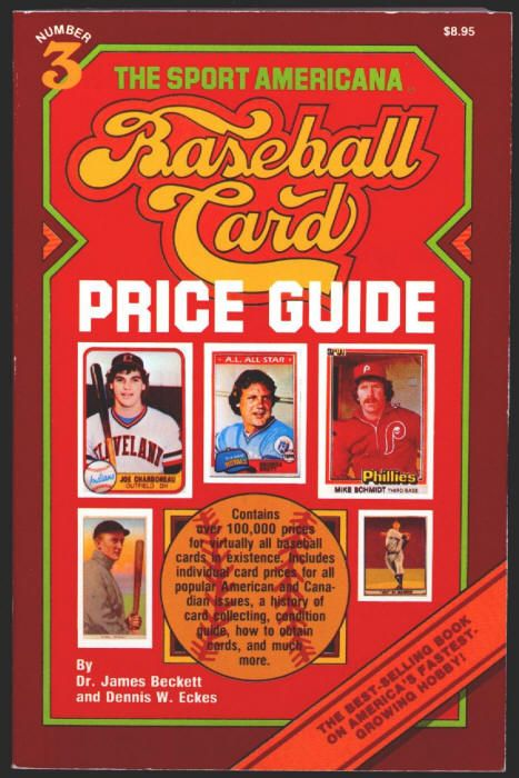 The Sport Americana Baseball Card Price Guide 3 By Dr James Beckett And Dennis Eckes Softback Vg 1981 Edg Rare Baseball Cards Baseball Cards Price Guide