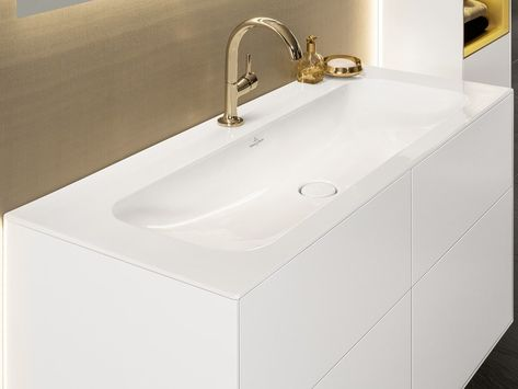 Download The Catalogue And Request Prices Of Finion Inset Washbasin By Villeroy Boch Inset Rectangular Titanceram Washbasin Design Pa Washbasin Design Design Sink