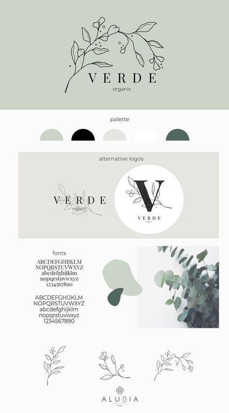 Premade Logo| Logo design| Brand Design| Business logo| Minimalist logo| Modern logo| Leaf logo | Cu