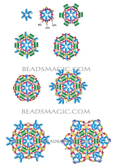 Free pattern for beautiful beaded pendant Antique by Lina Tolstova | Beads Magic
