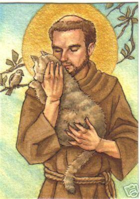 Saint François d'Assise, patron des animaux.