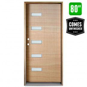 Cascade 5 Lite Mcm Prehung Exterior Wood Door Right Hand Inswing Front Entry Doors Entry Doors Wood Exterior Door