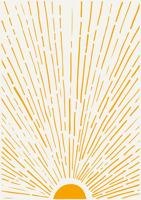 Sunshine Poster Art | Home Decor, Yellow Print, Home Print, Minimalist Poster, Home Decor, New Home Gift, Home Wall Art 24x36 20x30
