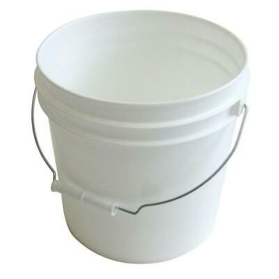 10 Pack 2 Gallon Plastic Pails Lids Heavy Duty White Paint Buckets Metal Handle 26703502108 Ebay In 2020 Plastic Pail Pail Bucket Paint Buckets