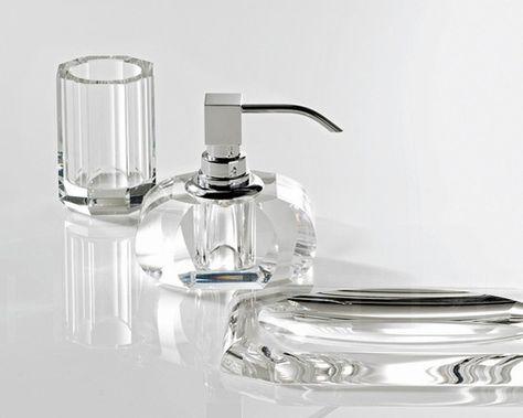 Decor Walther KRSSP Luxus Seifenspender Chrom Gold Glas Kristall farbig