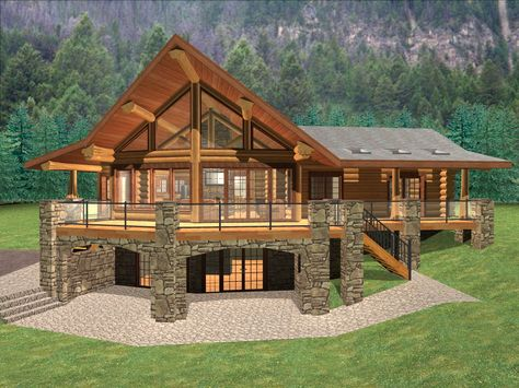 This collection of walkout basement house plans displays a variety from Pole Barn House Designs with Basements Log Cabin House Plans, Barn Homes Floor Plans, Pool House Plans, Rustic House Plans, Log Home Plans, Basement House Plans, Lake House Plans, Mountain House Plans, Log Cabin Homes