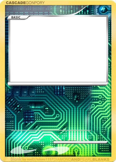 Blank Trading Card Template Lovely Cyber Blank By Nod3 On Deviantart Pokemon Card Template Trading Card Template Pokemon Cards