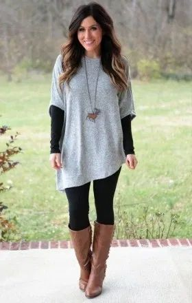 30 Cozy And Cute Winter Outfit With Legging