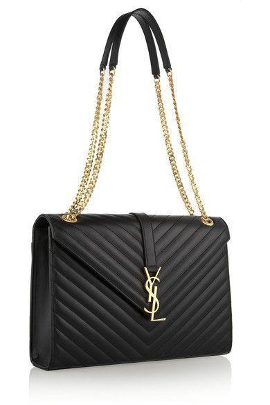 Monogramme large quilted leather shoulder bag - Saint Laurent via NET-A-PORTER.COM --Michael kors sale For Gift.