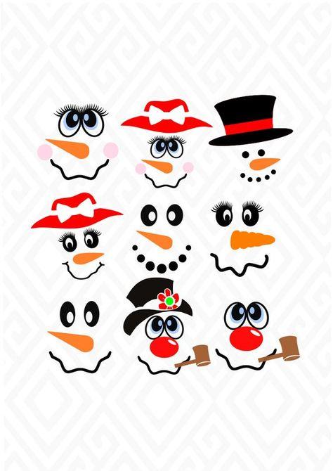 Snowman Svg, Snowman T Shirt Svg, Christmas Svg, Snowman Clip Art, SVG, DXF, EPS, Ai, Png, Jpeg, Pdf, Digital Files Vinyl Cutting/Printing