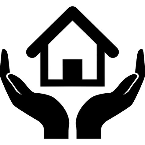 Home Insurance Symbol Of A House On Hands Free Vector Icons Designed By Freepik American Symbols Free Icons Graphic Design Logo