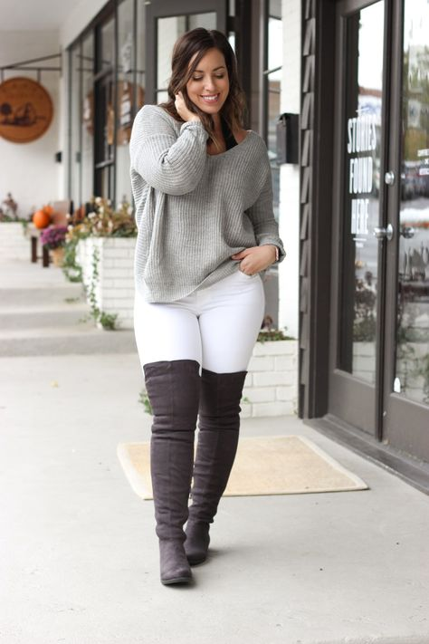 The Knee Boots: Stepping Outside My Comfort Zone Cozy sweater and over the knee boots, Perfect winter outfit!Cozy sweater and over the knee boots, Perfect winter outfit!
