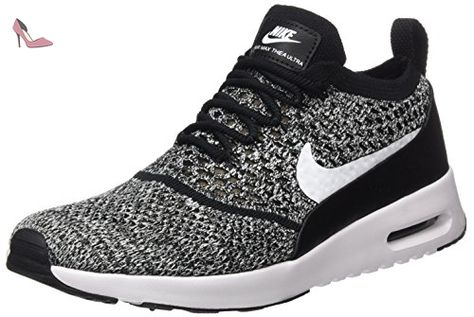various styles detailed pictures new style Nike Air Max Thea Ultra Flyknit, Baskets Femme, Noir (Black ...