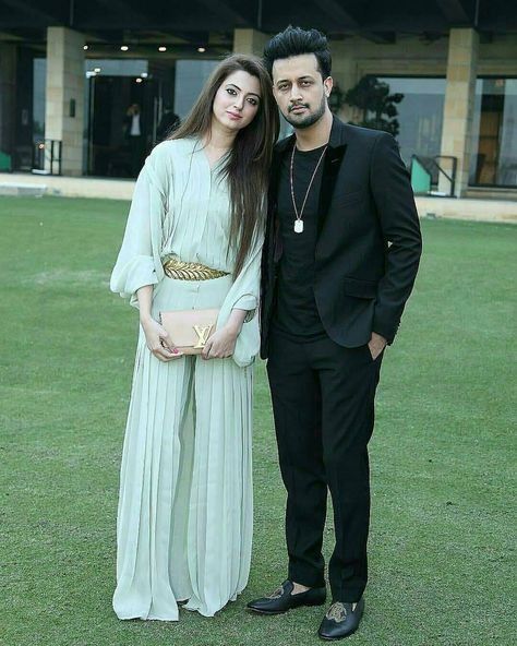 Atif Aslam With His Wife Sara Bharwana.