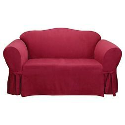 Soft Suede Loveseat Slipcover Sure Fit Slipcovers For Chairs Cushions On Sofa Slip Covers Couch