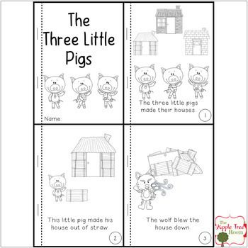The Three Little Pigs Activities With Ccss Reading Writing And Math Little Pigs Three Little Pigs Three Little Pigs Story Three little pigs worksheets