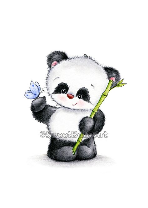 Panda Nursery Art, Animal Nursery Print, Children Art Print, Kids Wall Art, Baby Room Decor by SweetBabyArt on Etsy