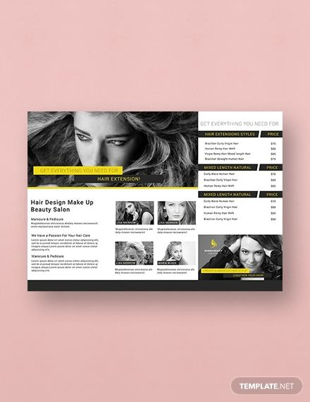 Free A3 Beauty Parlor Tri Fold Brochure Template Word Doc Psd Apple Mac Pages Illustrator Publisher Trifold Brochure Template Trifold Brochure Brochure Template