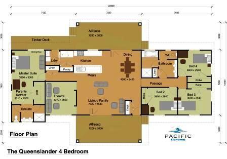 The Queenslander 4 Bedroom | House plans | Pinterest ...