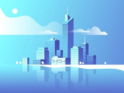 Night City Landscape City Illustration City Landscape Landscape Illustration